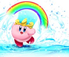 Cute artwork of Kirby's water ability :) krtd copy abilities | Tumblrのkirby's return to dreamlandタグ