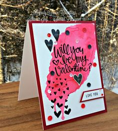 https://flic.kr/p/E24pn1 | Will You Be My Valentine Card | I used the Simon Says Stamp Paper Hug stamp set and Blackbird sequins from Kennedy Grace Creations. I also added some various red gemstones for extra sparkle. Watercolored background is done with Zig Clean Color Real Brush Markers (Red Geranium). Blog post:http://joysstudiocreations.blogspot.ca/2016/02/valentines-card-using-kgc-blackbird.html#