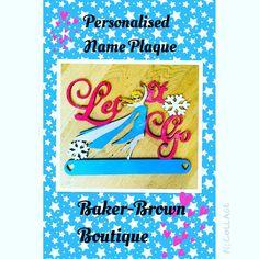 Frozen name plaque