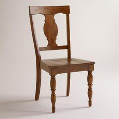One of my favorite discoveries at WorldMarket.com: Wood Durham Dining Chairs, Set of 2