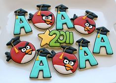 ~Angry Bird Cookies~  Making Cookies From Paper Templates