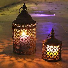 pair of moorish lanterns by london garden trading | notonthehighstreet.com