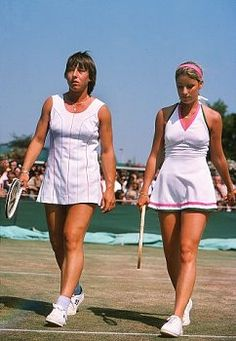 Playing Womens doubles with Martina Navratilova at the 1975 Wimbledon