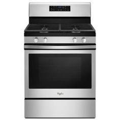 Whirlpool 30 in. 5.0 cu. ft. Gas Range Convection in Stainless Steel WFG520S0FS at The Home Depot - Mobile