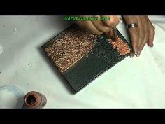 Имитация тиснения кожи - YouTube