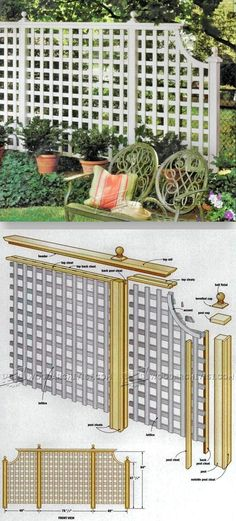 Outdoor Privacy Screen Plans - Woodworking Plans and Projects | WoodArchivist.com