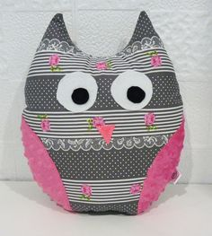 owl pillow, stuffed owl, owl cushion by Littletotokids on Etsy