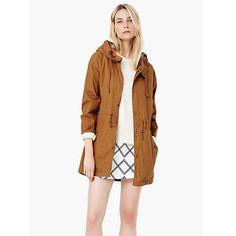 Buy Mango Hooded Trench Coat, Medium Brown Online at johnlewis.com