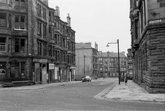 Joseph McIvor, B.) From Culloden Street looking down towards Low Coventry Drive and Harcourt Drive (Circa Glasgow Scotland, Edinburgh, Street Look, Street View, Glasgow Architecture, Glasgow City, City Scene, City Buildings, Coventry