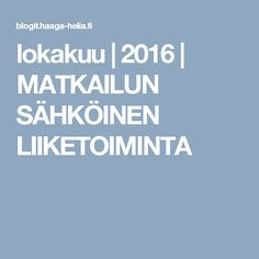lokakuu | 2016 | MATKAILUN SÄHKÖINEN LIIKETOIMINTA
