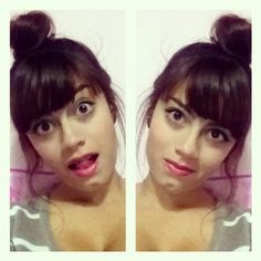 """Yesterday: """"I should totally get bangs"""" Today: """"WTF did I do?"""" #selfie #hair #bun #bangs #hairstyle"""