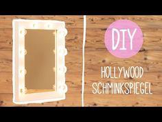 Spiegel-Hollywoodspiegel | Spiegel mit Beleuchtung | Diy-How to-Schminkspiegel-Theaterspiegel-bauen - YouTube