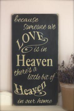 Someone we love in heaven Wood Wall Art Wood Sign by InMind4U, $48.00