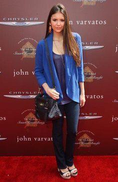 Nina Dobrev in blue