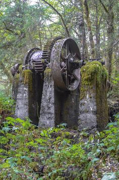 Abandoned mining equipment -  Prince of Wales island, SE Alaska.