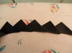 Tutorial: Folded ribbon pointed trim · Sewing   CraftGossip.com
