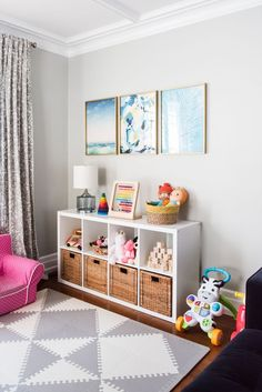Modern Ideas from /cydconverse/ Kids playroom ideas, home decor ideas, entertaining tips, party ideas and more from /cydconverse/ The post Emerson's Modern Playroom Tour appeared first on Woman Casual - Kids and parenting Living Room Playroom, Modern Playroom, Colorful Playroom, Office Playroom, Playroom Design, Playroom Decor, Playroom Ideas, Kid Decor, Toddler Playroom