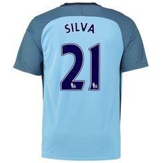 Manchester City 16-17 David #Silva 21 Hjemmebanesæt Kort ærmer,208,58KR,shirtshopservice@gmail.com