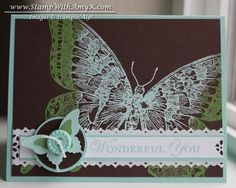 Pool Party and Wild Wasabi Swallowtail by amyk3868 - Cards and Paper Crafts at Splitcoaststampers
