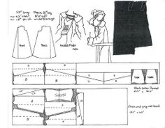 Graph paper patterns | Includes patterns for Chirka, Gomlek, Shalvar, and Entari