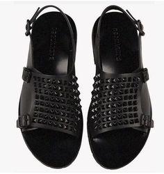 Aliexpress.com: Comprar Nuevo Diseño Remaches RiGradiator Brathable Hombres Sandalias del Estilo de Roma Sandalias de Moda Hebilla Del Tobillo Peep Toe Zapatos de Los Hombres 2017 de mens zapatos de vacaciones fiable proveedores en OnlyRose Store