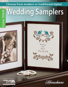 Commemorate the happy couple's special day with one of the lovely cross stitch designs in Wedding Samplers. Whether you choose the traditional Morning Glory Wedding Sampler or opt for the Modern Wedding Sampler, the happy couple will appreciate it that yo Wedding Cross Stitch Patterns, Counted Cross Stitch Patterns, Cross Stitch Designs, Cross Stitch Embroidery, Cross Stitch Samplers, Cross Stitching, Cross Pictures, Wedding Embroidery, Wedding Tips