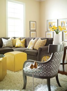 Decorating With Gray And Yellow