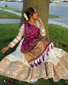 Indian Wedding Gowns, Indian Gowns Dresses, Indian Bridal Outfits, Indian Fashion Dresses, Indian Designer Outfits, Bridal Dresses, Bandhani Dress, Lehnga Dress, Lehenga Choli