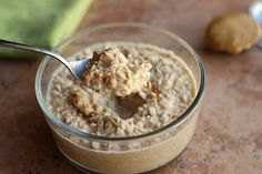 Peanut Butter Cookie Dough Overnight Oats [Oatmeal with a Fork]