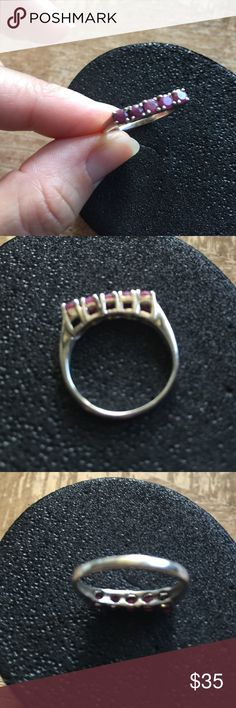 Ring Sterling silver solid authentic ruby sz 8 Ring Sterling silver solid authentic ruby sz 8 Jewelry Rings
