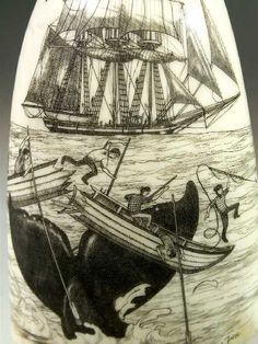 I can't believe the level of detail whaleman could achieve when creating scrimshaw art