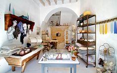 Inside Mallorca's new general store/design boutique Hito.  Angus Pigott for Monkeypuzzle Pictures Ltd.  via ny times
