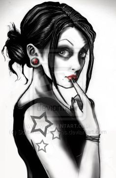 Gothic Girl by ScreamingDemons on deviantART