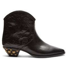Isabel Marant Dawina embossed leather ankle boots