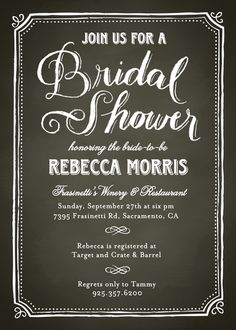 Heirloom bridal shower invitation bridal showers shower chalk border bridal shower invitation paper source filmwisefo