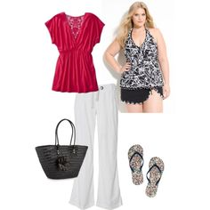 PLUS SIZE Beachwear ~, created by jennifer-elmore-pascual on Polyvore