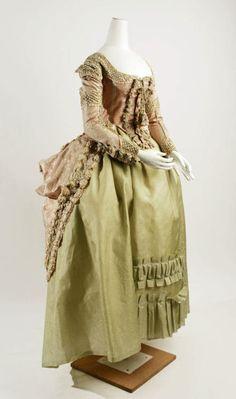 Robe a la Polonaise ca. 1778-1780 via The Costume Institute of The Metropolitan Museum of Art