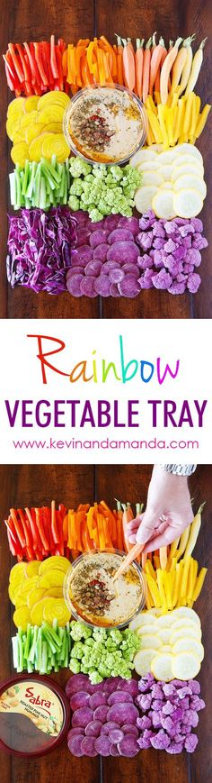 Four Kitchen Decorating Suggestions Which Can Be Cheap And Simple To Carry Out Quick And Easy Rainbow Vegetable Tray So Fun And A Great Healthy Alternative For Snacking Easy Appetizer Recipes, Healthy Appetizers, Appetizers For Party, Party Recipes, Dip Recipes, Salad Recipes, Healthy Snacks, Snack Recipes, Gastronomia