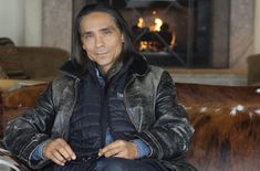 Making Progress in the Film Industry Words & Photos by Sandra DahDah Known for his roles in Longmire and Fargo, Zahn McClarnon is back in town filming his second season of AMC's hit TV series, The Son, Native American Men, American Indians, Longmire Series, Robert Taylor Longmire, Zahn Mcclarnon, Native Indian, Film Industry, Handsome Boys, Movies And Tv Shows
