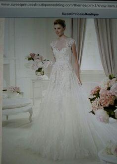 European style wedding gown