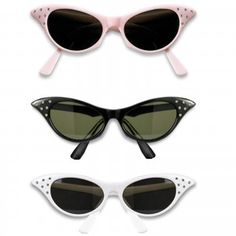 Includes one pair of style sunglasses with plastic frames and faux rhinestone accents. Please Note: these are sunglasses, lenses will be darker than shown in image. Clear lens style glasses are sold separately. Moda Fashion, 1950s Fashion, Vintage Fashion, Women's Fashion, Fashion History, Fashion Bags, Costume Accessories, Vintage Accessories, Fashion Accessories