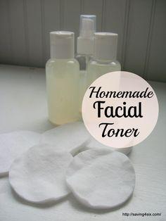 Homemade Facial Toner - great for oily skin. http://saving4six.com/2014/07/make-your-own-facial-toner.html