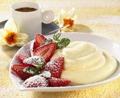 Bayerische Creme mit Erdbeeren