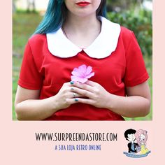Vestidos Vintage Doll Red, Manga Curta. Que tal ter um vestido exclusivo em seu guarda roupas, veja mais em nosso site  www.surpreendastore.com   #vestido #vestidoretro #vestidovintage #modavintage #modaretro #pinup #lookretro #loveretro #pinups #pinupgirl #lifestyle #estilopinup #lookdodia #retro #vintage #alternative #alternativo #lookvintage