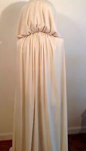 Romantic vintage wedding dress 8 Ivory Widows Hood Cape Cosplay Game of Thrones