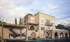 Lebanese Exterior Home Design - lebanese exterior home design Pleasant in order to our website, on this occasion I am going to explain to you regarding Villa Design, Home Design, House Outside Design, House Front Design, Exterior House Colors, Exterior Design, Colonial, Prefabricated Houses, Glass Facades