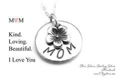 Sterling Silver MOM NECKLACE, Mothers Day Necklace, Gifts for Mom from Daughter, Nana Jewelry, Mothers Day Jewelry by Cheydrea by Cheydrea on Etsy https://www.etsy.com/listing/229323395/sterling-silver-mom-necklace-mothers-day