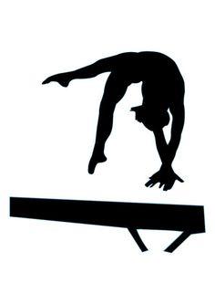 Gymnastics Silhouette - 17 : Custom Wall Decals, Wall Decal Art, and Wall Decal Murals | WallMonkeys.com