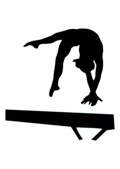 Gymnastics Silhouette - 17 : Custom Wall Decals, Wall Decal Art, and Wall Decal Murals | WallMonkeys.com