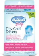 Planet Bambini  - Hyland's Baby Tiny Cold Tablets (125 tablets), $9.99 (http://www.planetbambini.com/hylands-baby-tiny-cold-tablets-125-tablets/)